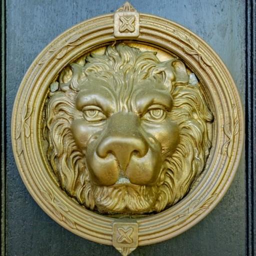 lions head knocker icon